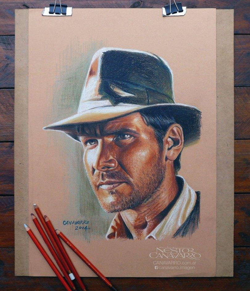 retratos realistas-desenhos-a-lápis-coloridos-nestor-canavarro-3