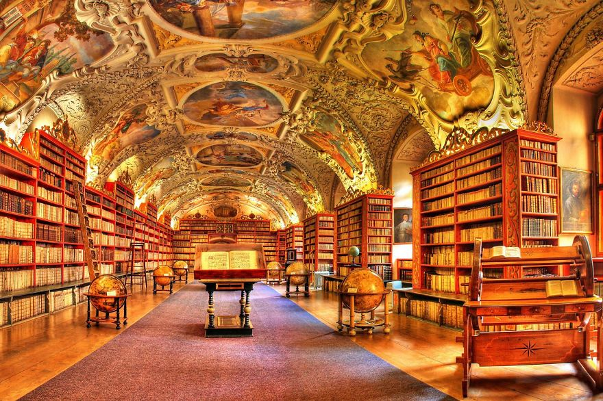 Strahov Monastery Library. Prague. Czech Republic | Bored Panda