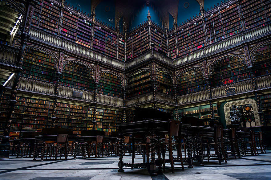 Biblioteca reale Gabinete Portugues De Leitura, Rio De Janeiro, Brasile