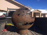 84-Year-Old Grandpa Creates A Metal Death Star Firepit For ...