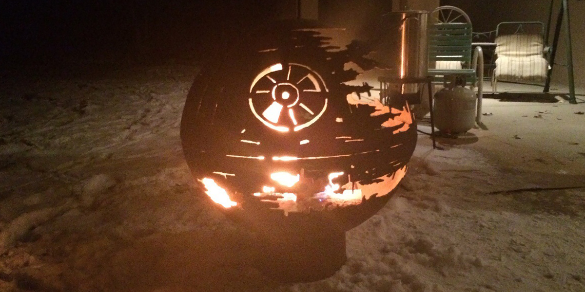 84YearOld Grandpa Creates A Metal Death Star Firepit For His Grandchildren  Bored Panda