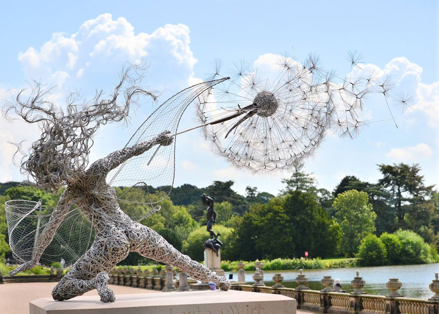 Fairy Sculptures Dancing With Dandelions