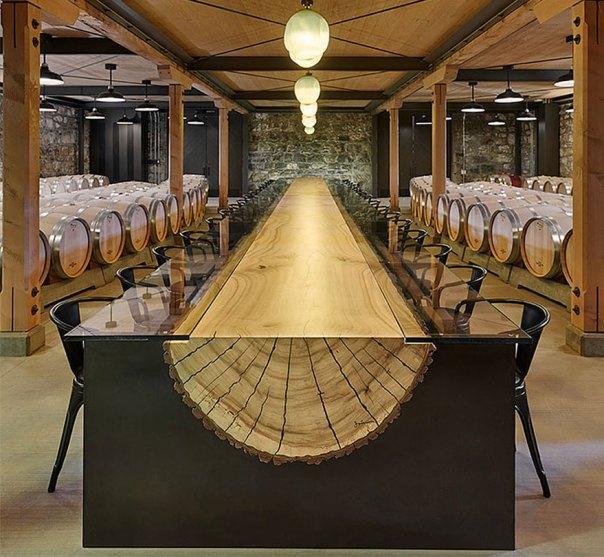 Wood Log Table