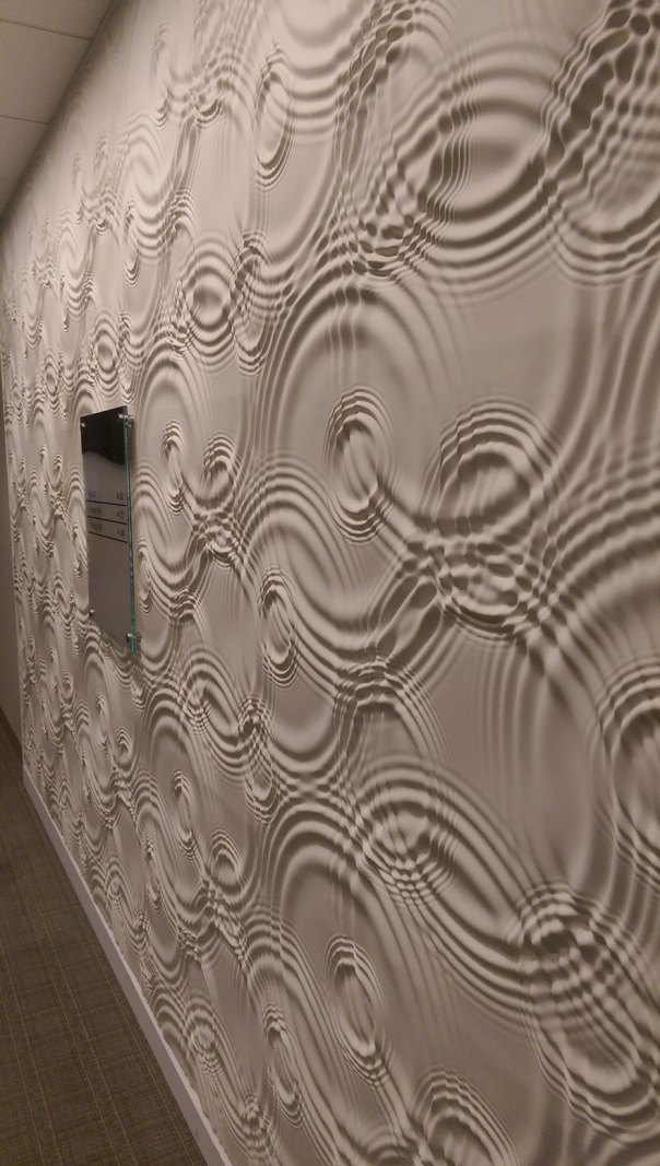 Rippling Liquid Illusion Wall