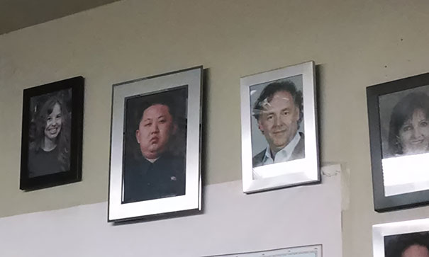 Hang  Kim Jong Un  On The Staff Picture Wall