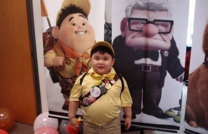 Kid Looks Like Russel From Up!