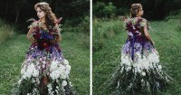 Floral Haute Couture: The Dress Made Of Flowers | Bored Panda