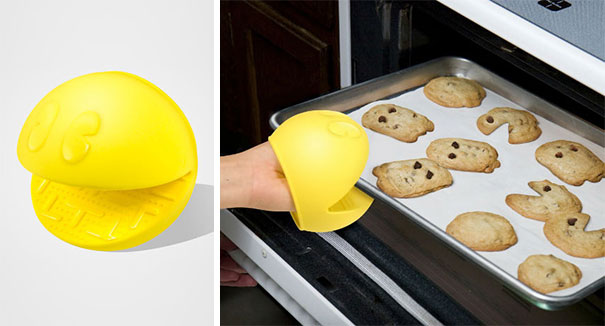 geeky kitchen gadgets island large 55 items to satisfy every nerd s needs bored panda 5 pac man oven mit