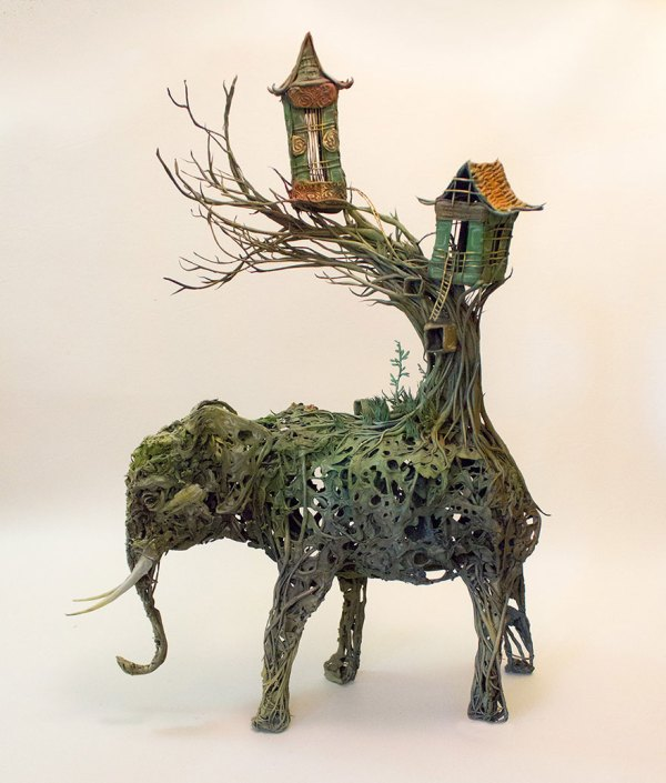 Sculptor Merges Animals And Plants In Otherworldly