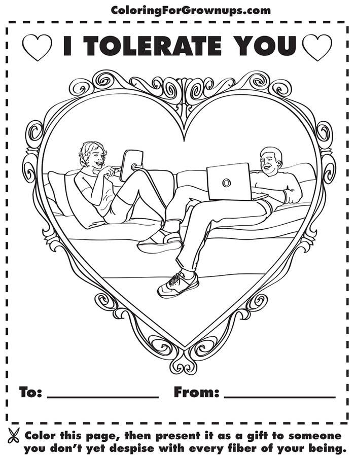 Coloring Book For Grown-Ups That Mocks Adult Life (II