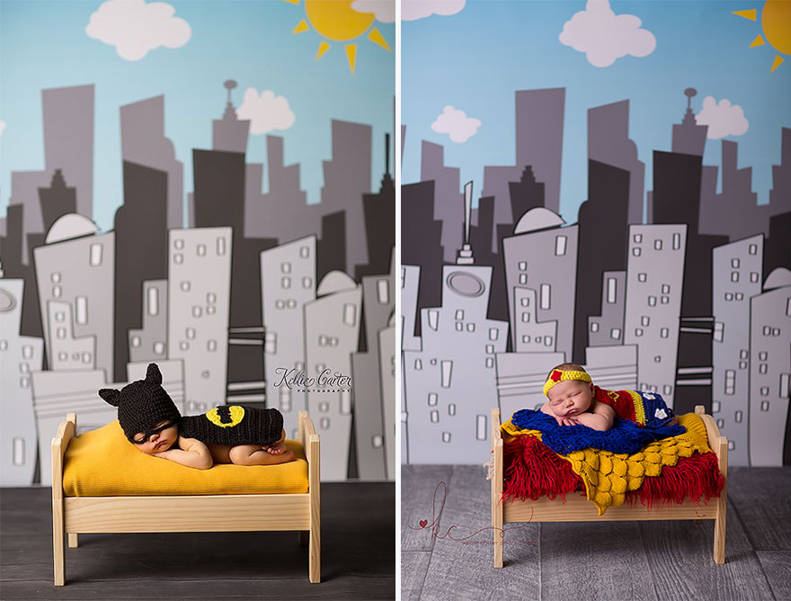 Baby Batman And Baby Wonder Woman