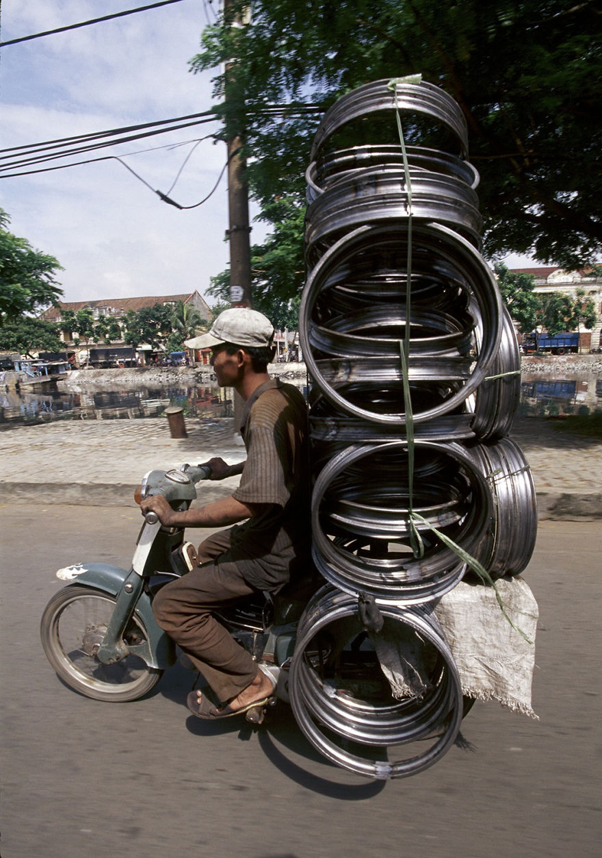 Motorbike With A Heavy Load