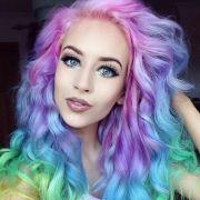 rainbow pastel hair trend