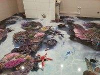 3D Floors Turn Your Bathroom Into An Ocean | Bored Panda