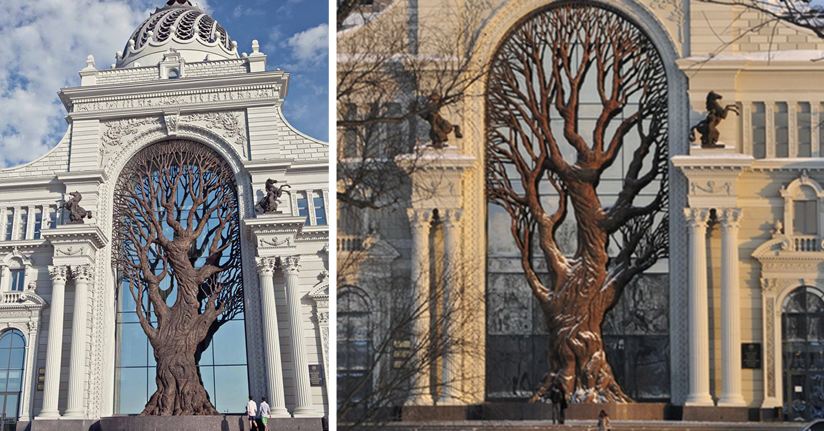 Statue Of Liberty Wallpaper Iphone Giant Iron Tree Built In Russia S Ministry Of Agriculture