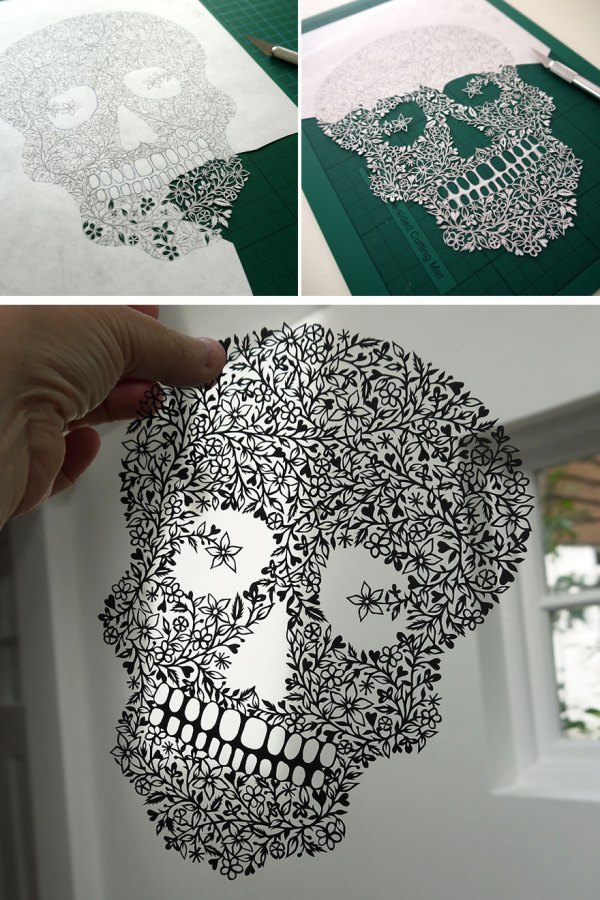 Artist Hand-cuts Insanely Intricate Paper Art Single