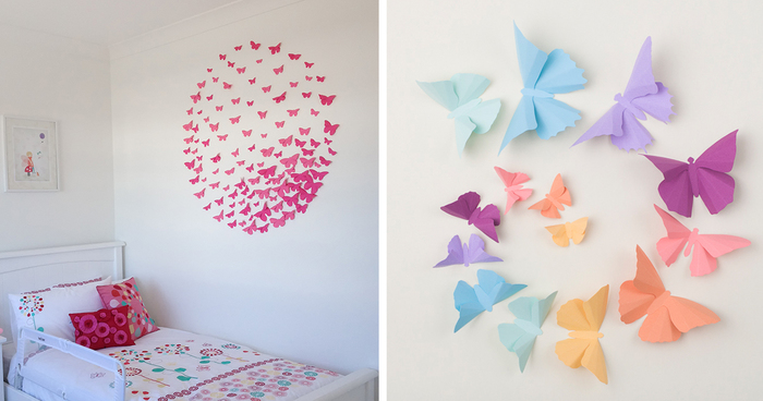 I Make 3D Paper Wall Decorations To Fix Boring Flat Walls