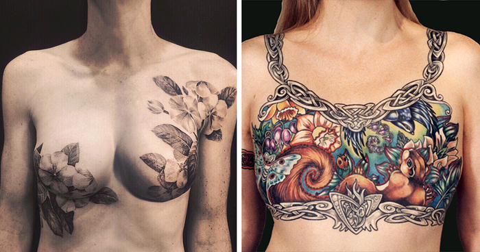 Tattoo Artists Cover Breast Cancer Survivors' Scars With ...