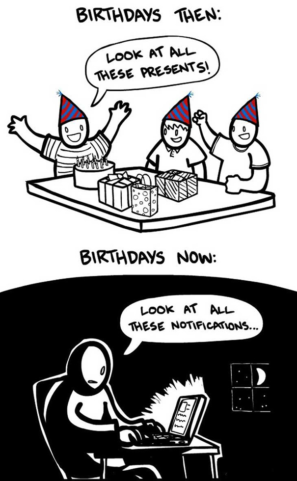 Birthdays Before And Now