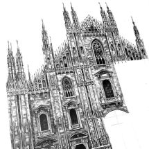 Pencil Drawings Famous Buildings in Architecture
