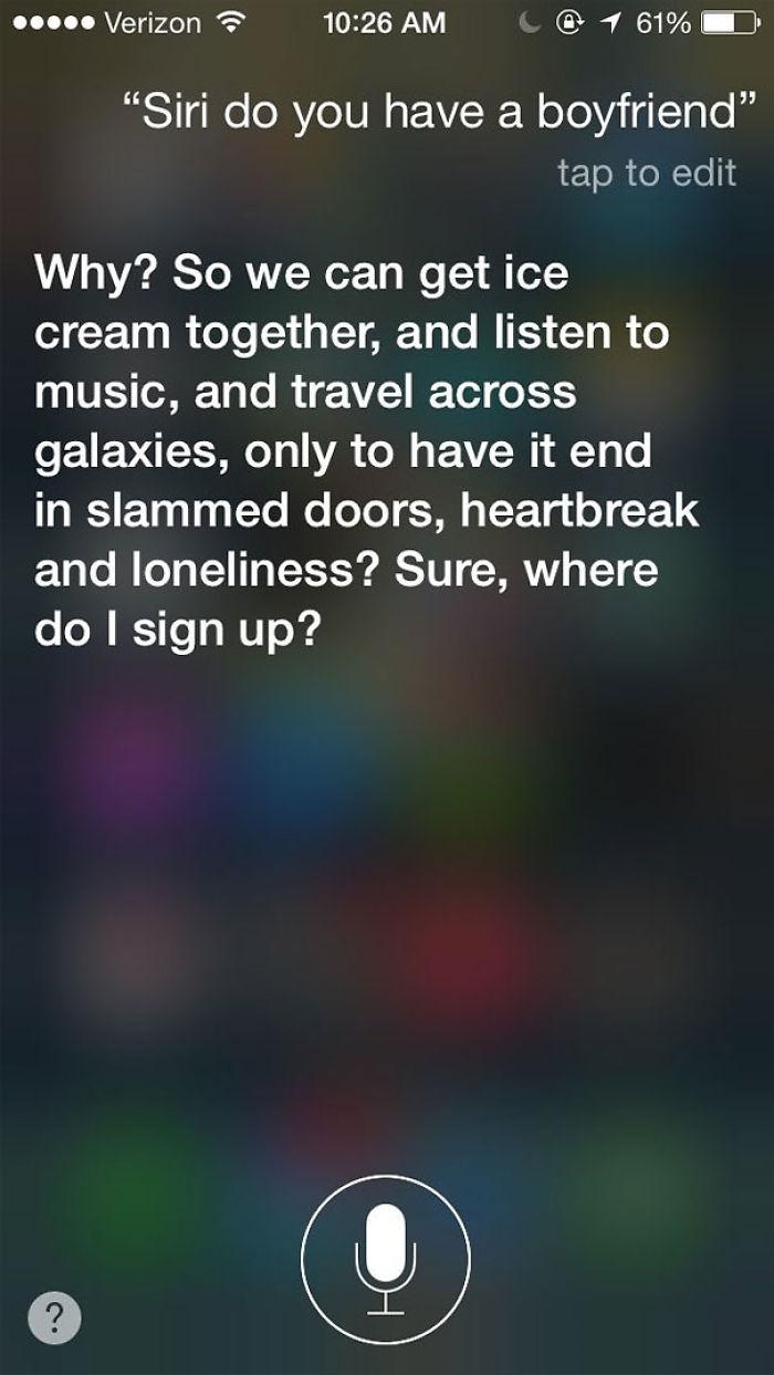 Siri Response Bored Panda