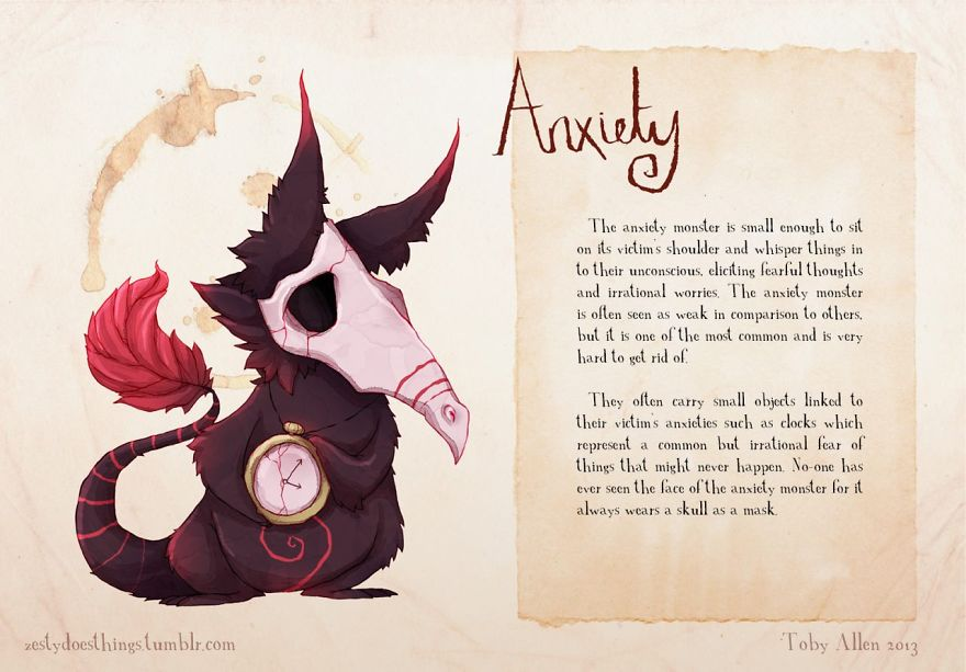 Image result for anxiety monster