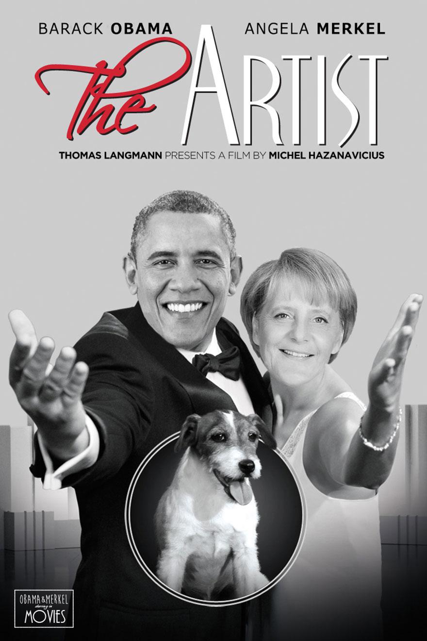 Obama Merkel And Putin As Leading Actors In Famous