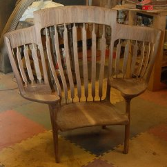 Rocking Chairs For Children Fancy Chair Covers Sale Dad Builds Triple So He Could Read To His 3 Kids Storytime Books Hal Taylor