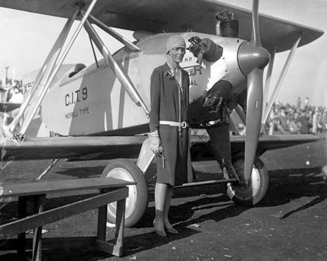 Amelia Earhart Was The First Female Aviator To Fly Solo Across The Atlantic Ocean (1928)