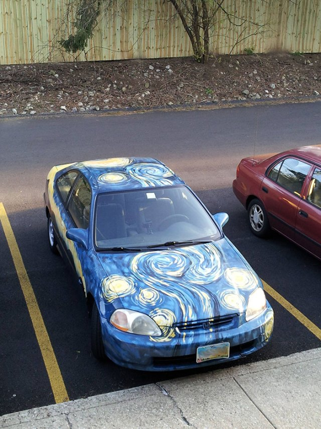 My friends decided to paint their car. They call it Van Go