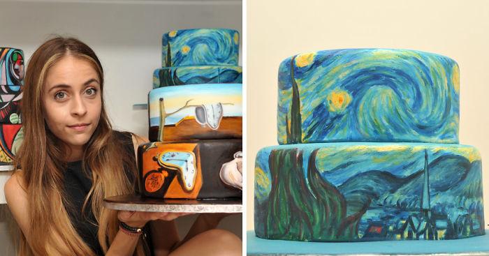 I Recreate Famous Paintings On Cakes Bored Panda
