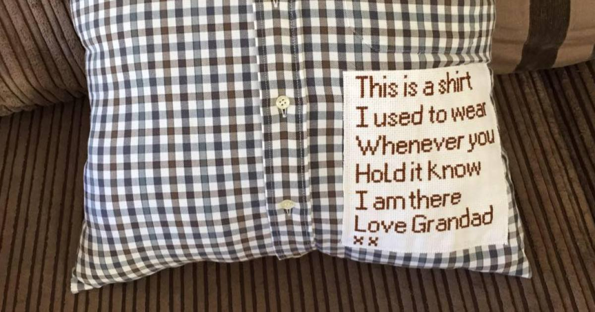 Shirt That Grandpa Used To Wear Becomes Pillow To Remind