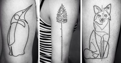 One Continuous Line Tattoos By Iranian-German Artist Mo ...