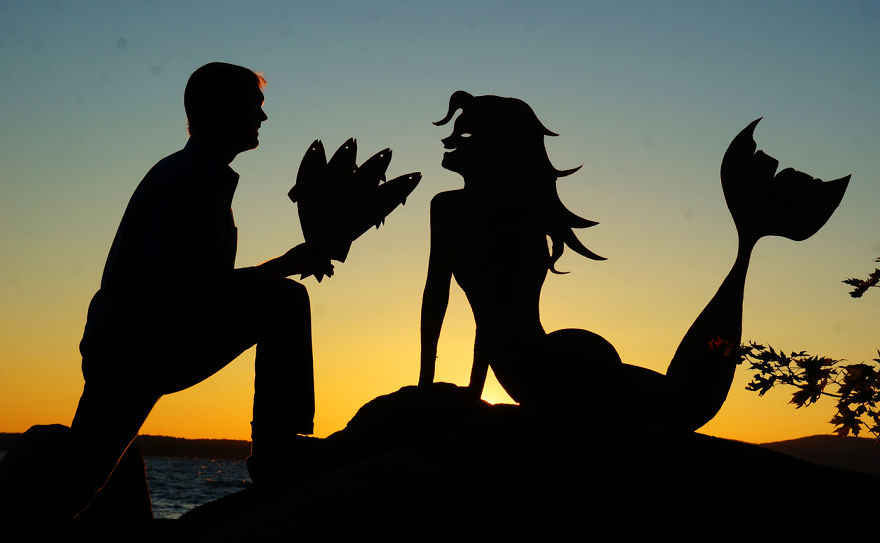 My Cardboard Cutouts Come To Life In Magical Sunset