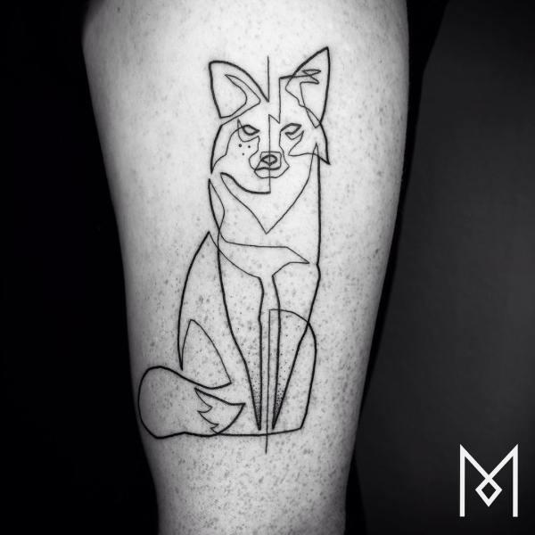 Continuous Line Tattoos Iranian-german Artist Mo