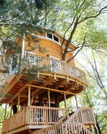 Grandfather Builds Epic 3-story 40ft Treehouse