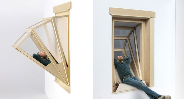 """""""More Sky"""" Window Turns Into Balcony To Give Small Apartments Outdoor Experience"""