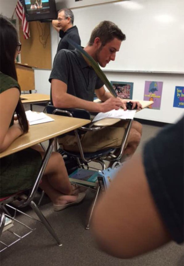He Asked The Teacher For A Pen