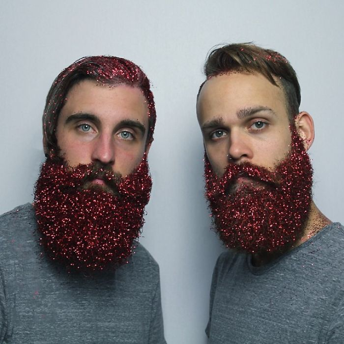 Men Are Covering Their Beards In Glitter Just In Time For