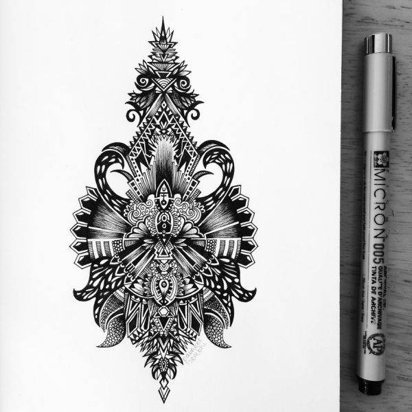 Obsessed With Drawing Super Detailed Art Bored Panda