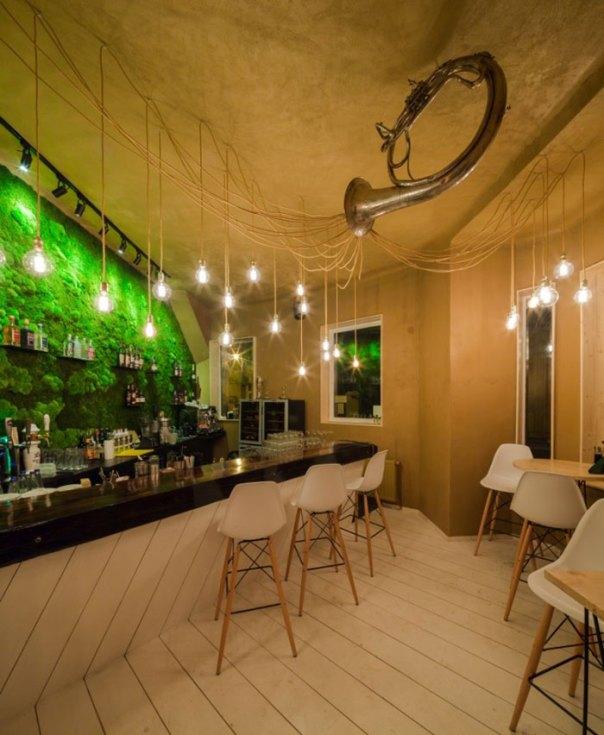 Moss Wall In A Shift Pub