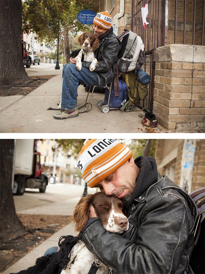 Homeless Man Chuck And His Baby Girl