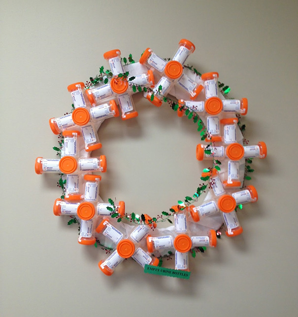 Wreath Made Of Pee Jars