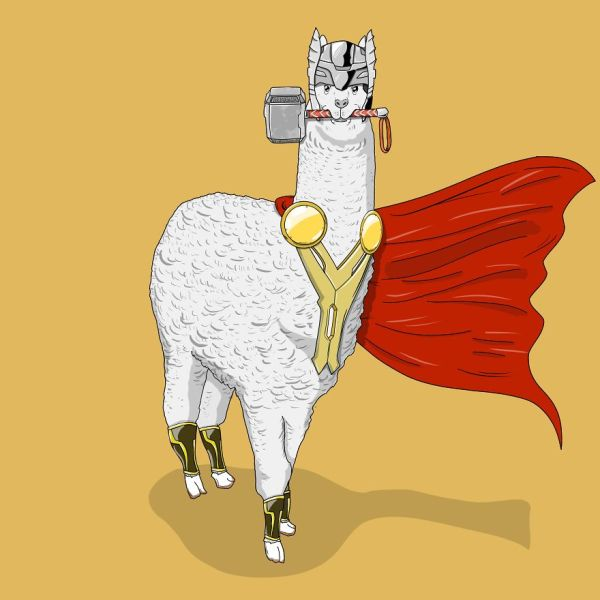 Super Heroes as Animals Drawing
