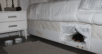 This Bed Has A Tiny Compartment For Your Pet So That You ...