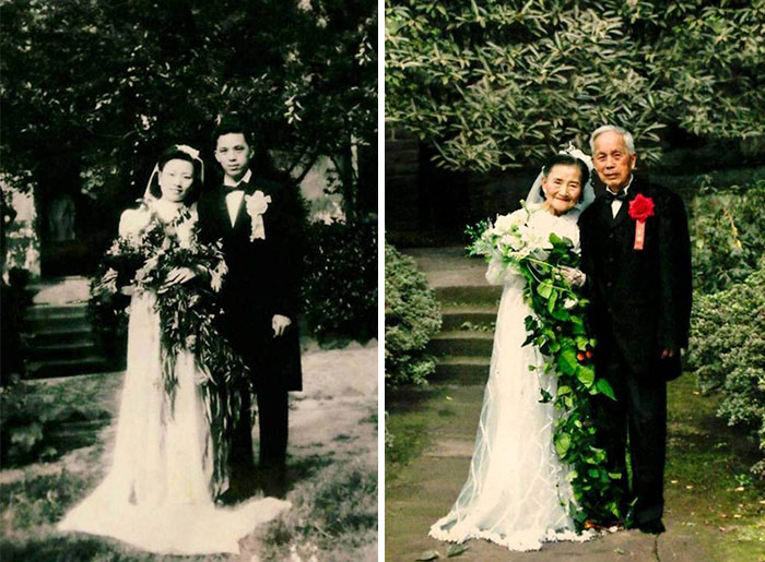 98YearOld Couple Recreate Their Wedding Day After 70