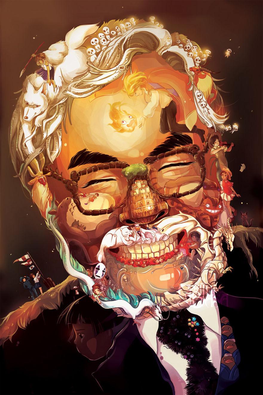Hayao Miyazaki Τέχνης Πορτραίτο