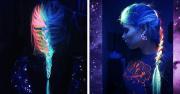 rainbow hair glow
