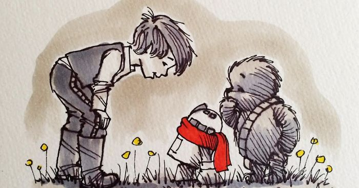 Cute Wallpaper Recycling Star Wars Characters Reimagined As Winnie The Pooh And