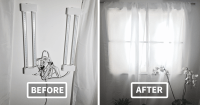 How To Make A Fake Window In Your Basement   Bored Panda